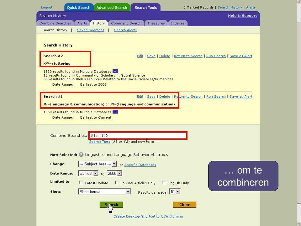 … om te combineren #1 and #2