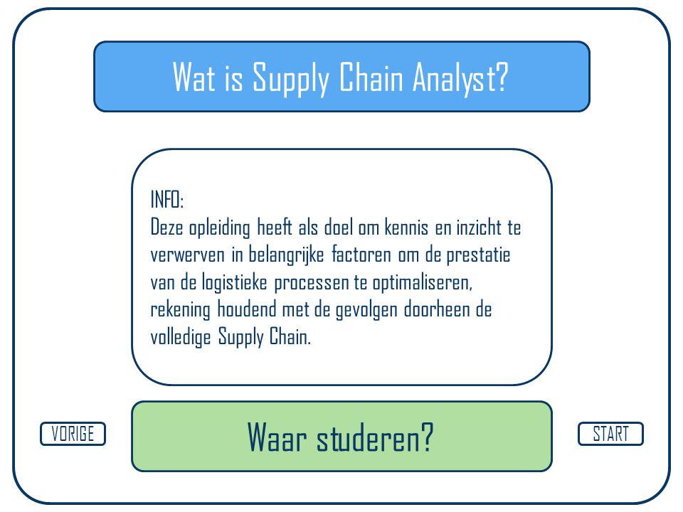 Wat is Supply Chain Analyst.