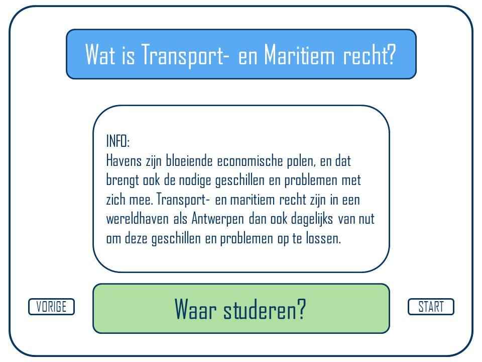 Wat is Transport- en Maritiem recht.