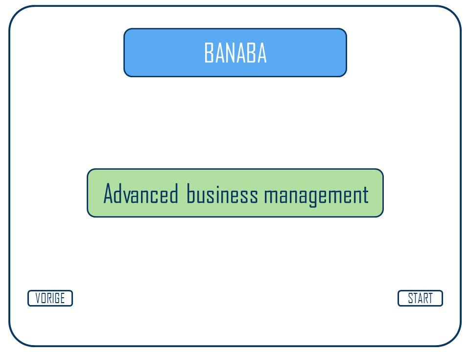BANABA Advanced business management STARTVORIGE