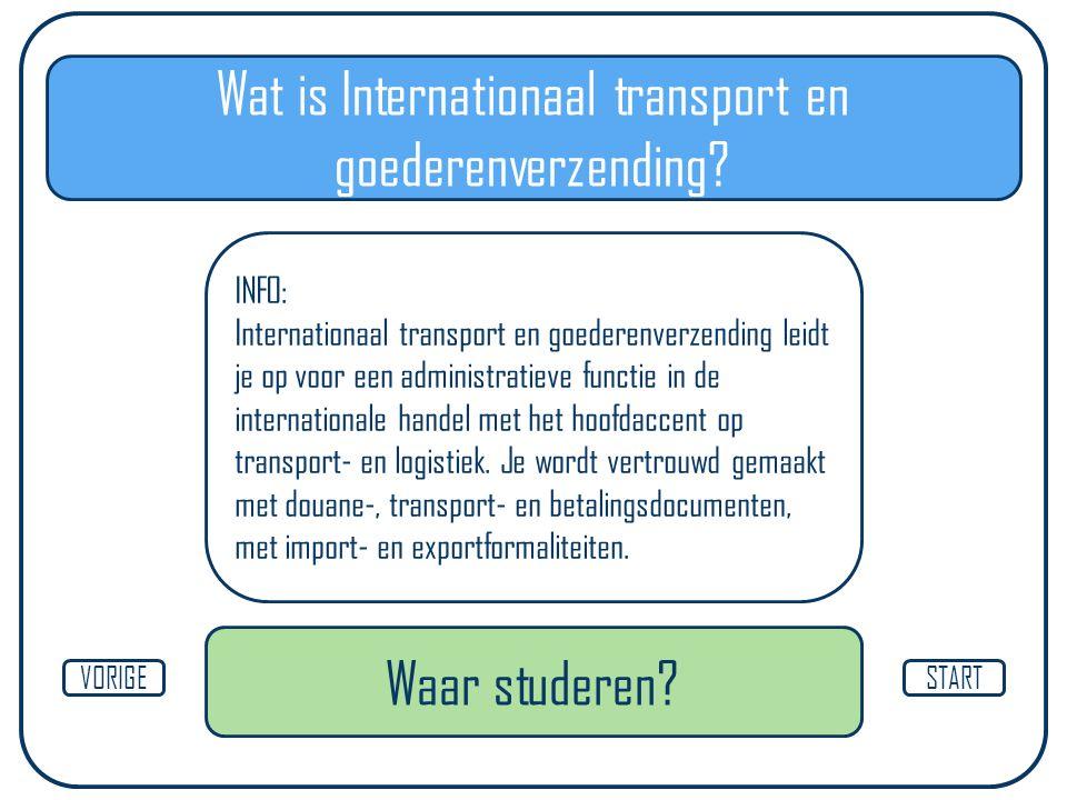 Wat is Internationaal transport en goederenverzending.