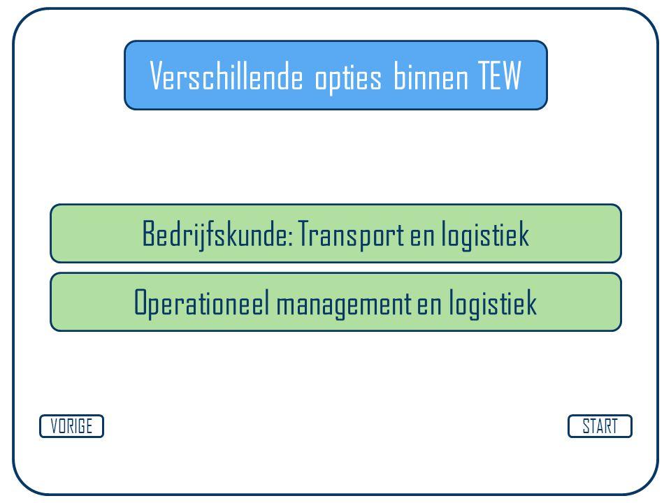 Bedrijfskunde: Transport en logistiek STARTVORIGE Operationeel management en logistiek