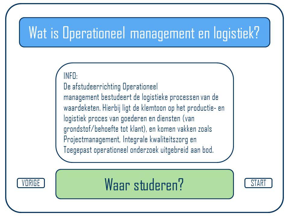 Wat is Operationeel management en logistiek.