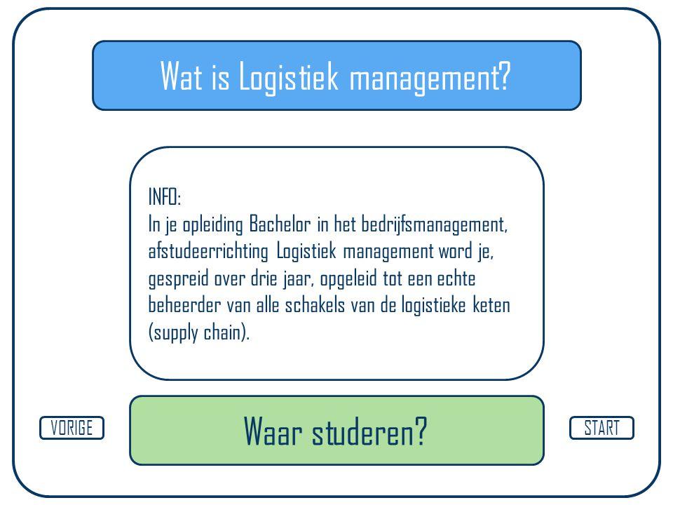 Waar Logistiek management studeren? Diepenbeek AntwerpenGeel Mechelen STARTVORIGE HasseltBrussel