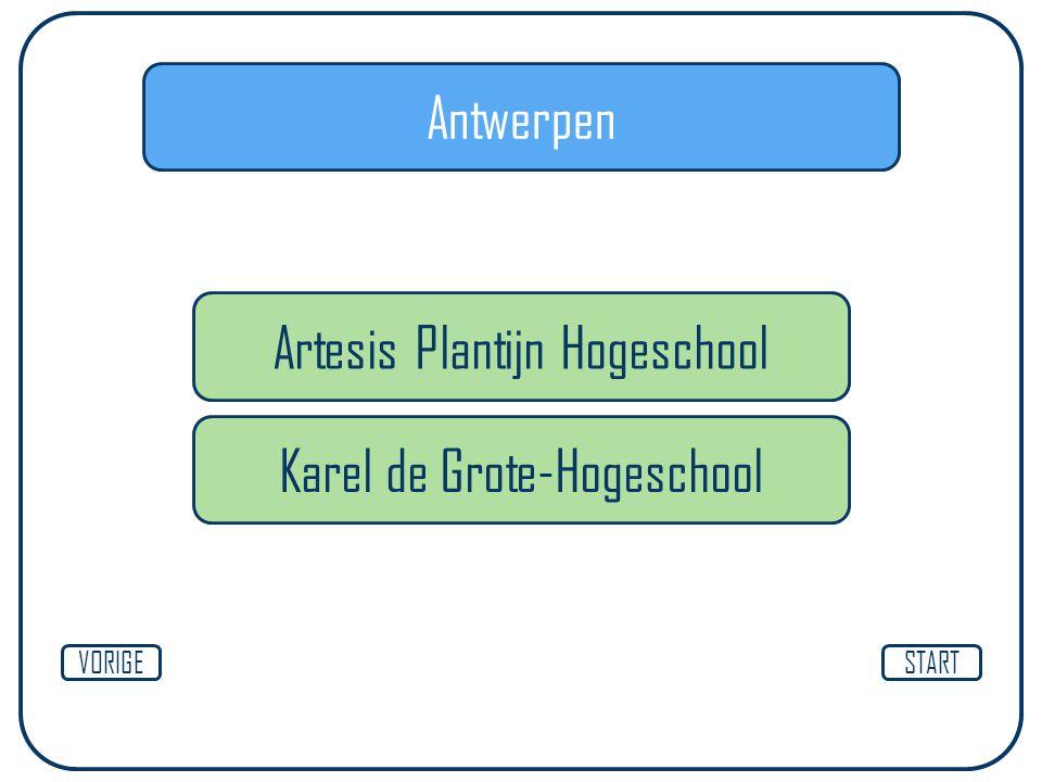 Antwerpen STARTVORIGE Artesis Plantijn Hogeschool Karel de Grote-Hogeschool