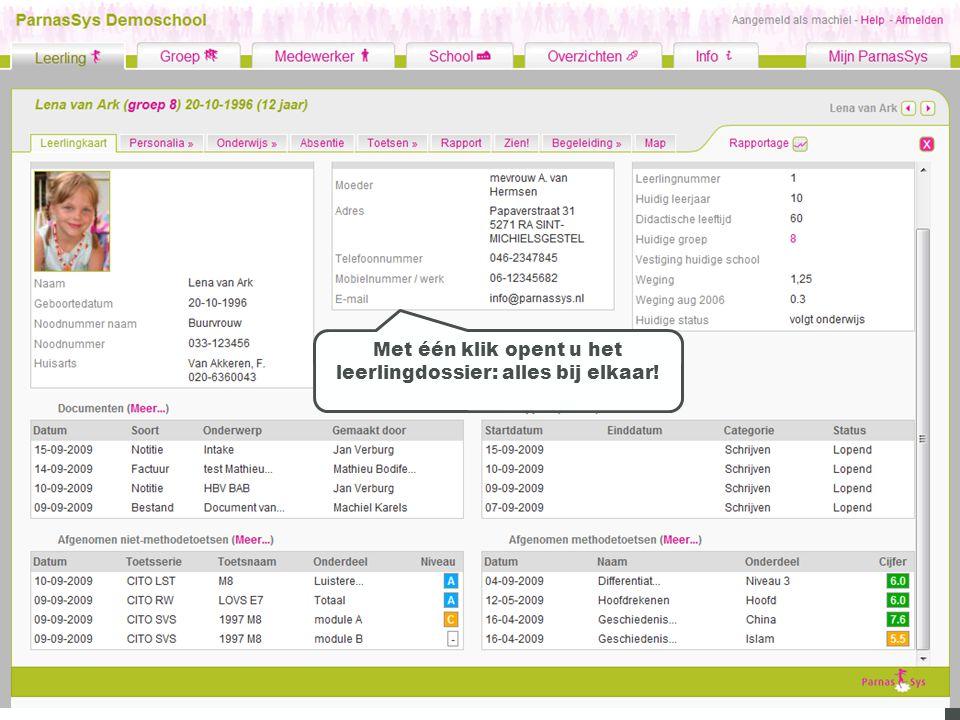 DWD Met één klik opent u het leerlingdossier: alles bij elkaar!