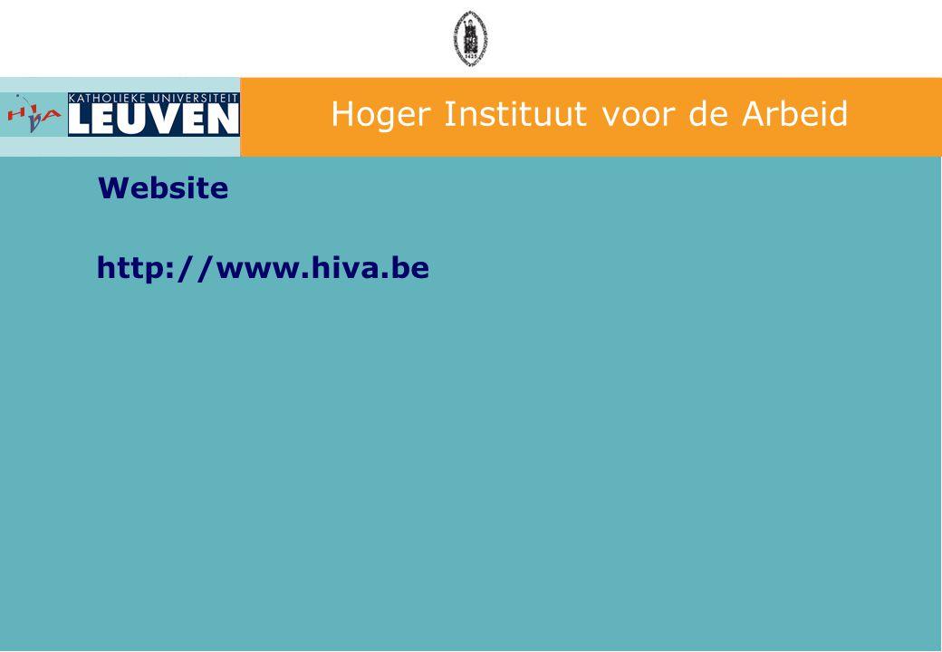 Hoger Instituut voor de Arbeid Website http://www.hiva.be