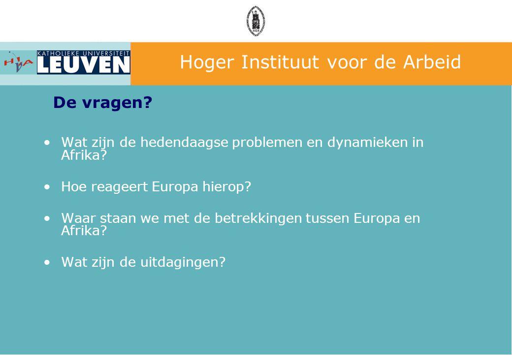 Wat zijn de hedendaagse problemen en dynamieken in Afrika? Hoe reageert Europa hierop? Waar staan we met de betrekkingen tussen Europa en Afrika? Wat
