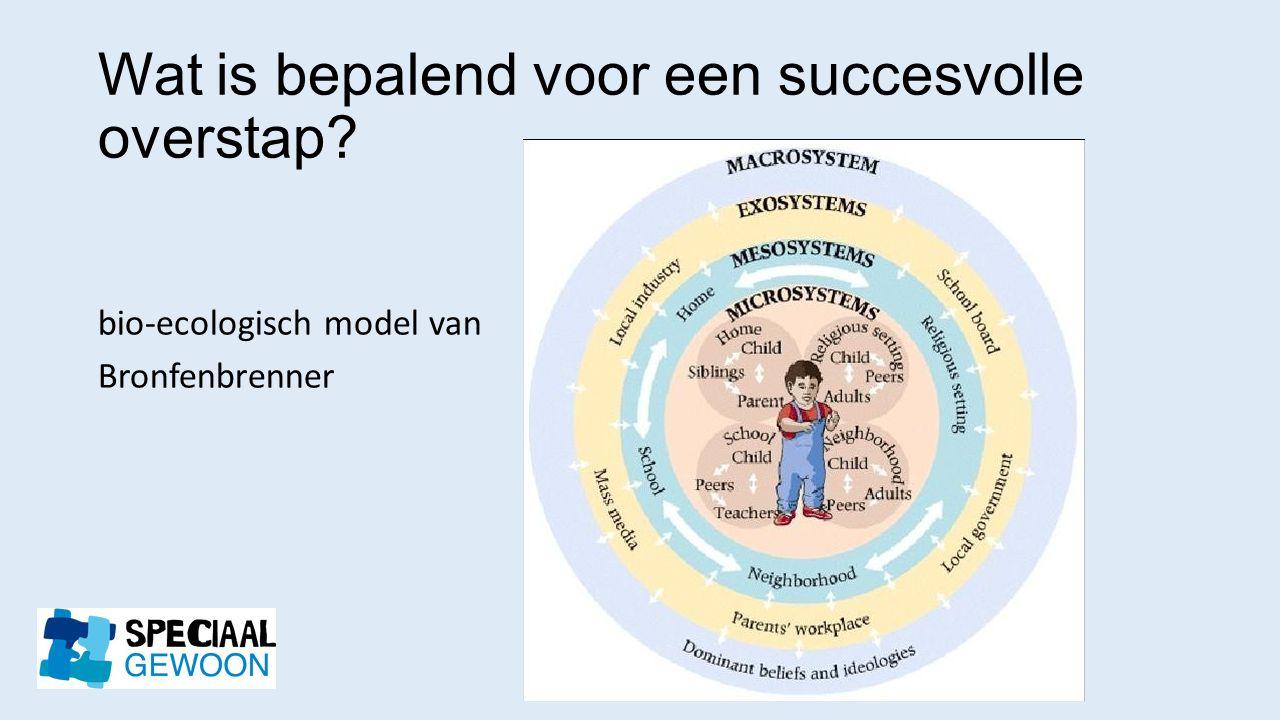 Wat is bepalend voor een succesvolle overstap? bio-ecologisch model van Bronfenbrenner