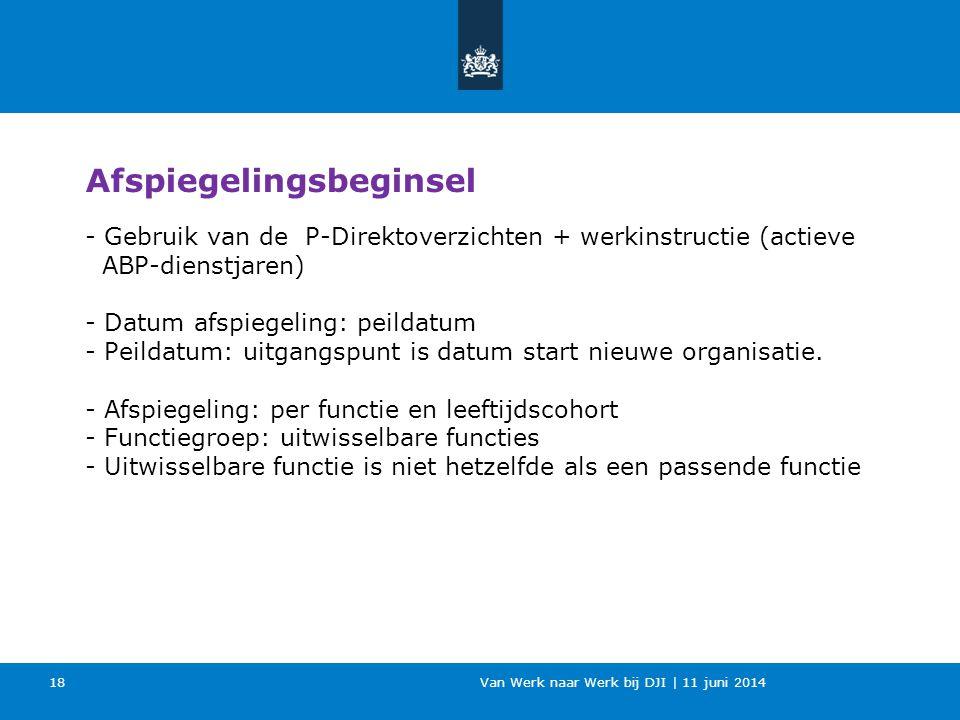 Van Werk naar Werk bij DJI | 11 juni 2014 - Gebruik van de P-Direktoverzichten + werkinstructie (actieve ABP-dienstjaren) - Datum afspiegeling: peilda