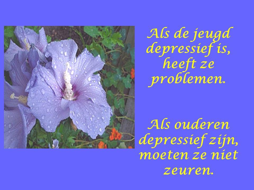 Als de jeugd depressief is, heeft ze problemen. Als ouderen depressief zijn, moeten ze niet zeuren.