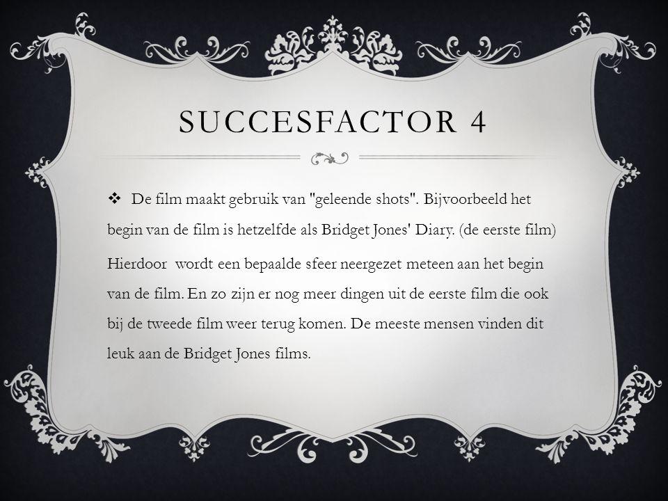 SUCCESFACTOR 4  De film maakt gebruik van geleende shots .