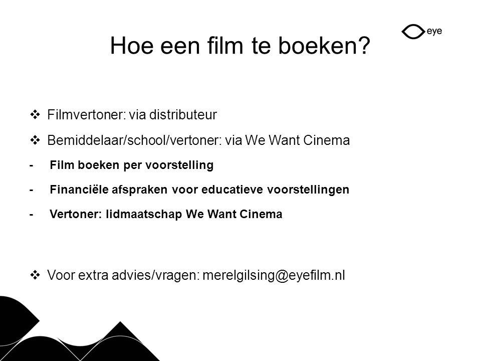Hoe een film te boeken.