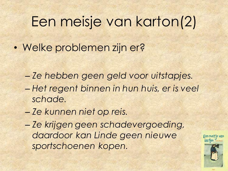 Een meisje van karton(2) Welke problemen zijn er. – Ze hebben geen geld voor uitstapjes.
