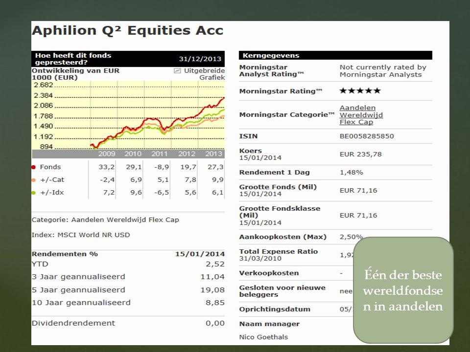 18/08/2014 15 Één der beste wereldfondse n in aandelen