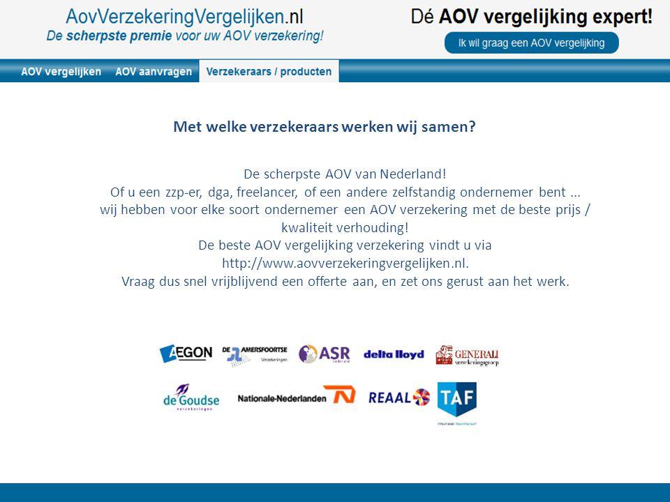 De scherpste AOV van Nederland.