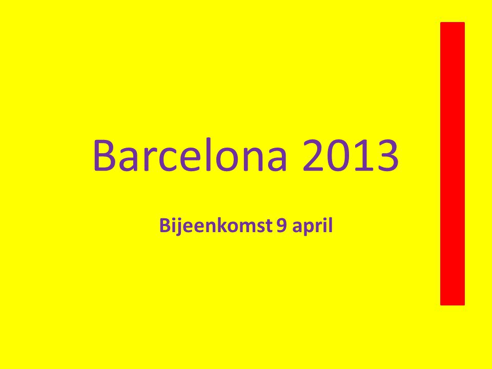 Maandag 13 mei 2013 ……..