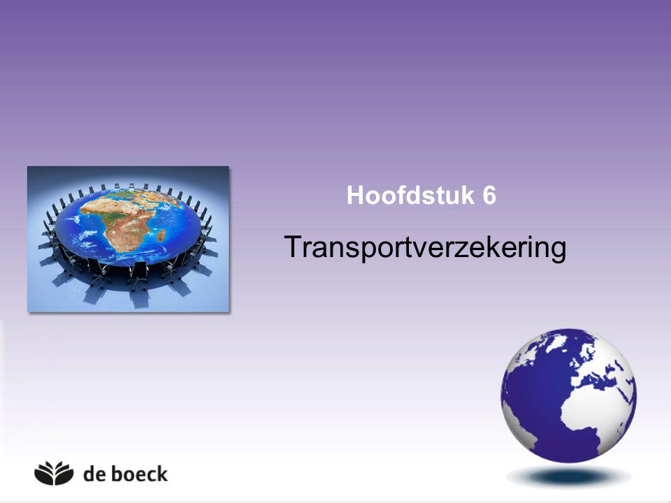3 Aansprakelijkheidsverzekering 3.Zeevervoer Volgens Hague Visby rules gedekt: Aansprakelijkheid van de vervoerder: goederen, vaste voorwerpen, lichamelijke schade Reddingskosten en averij grosse