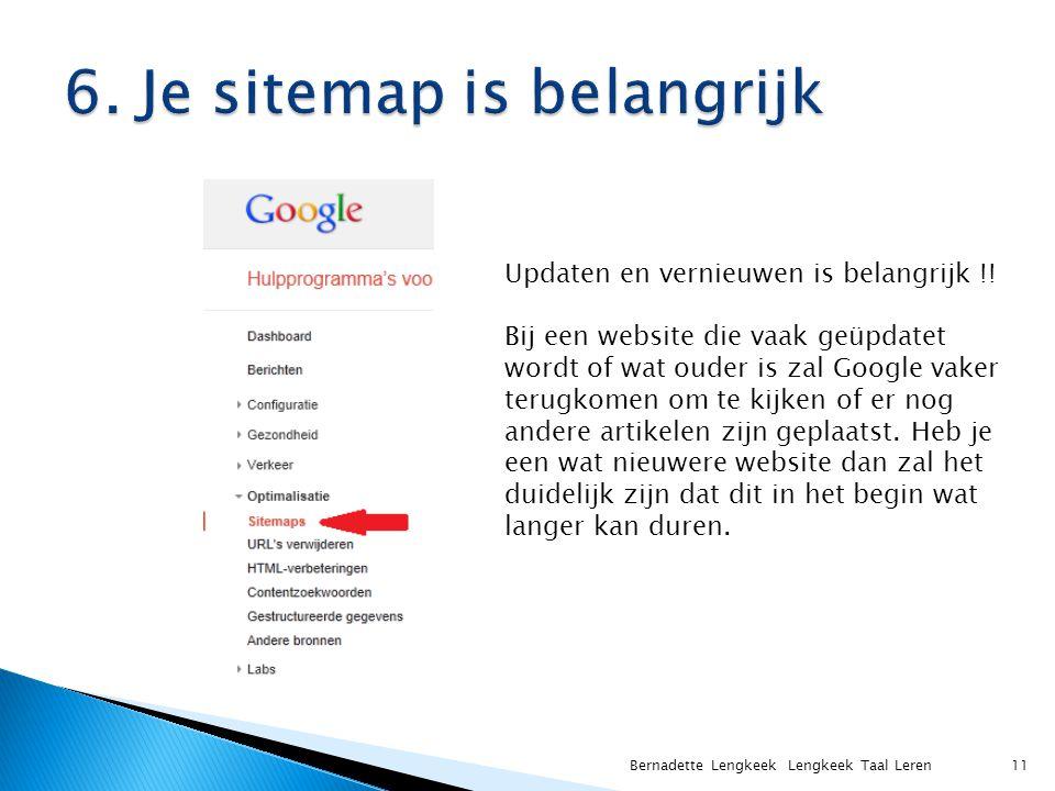 Bernadette Lengkeek Lengkeek Taal Leren 11 Updaten en vernieuwen is belangrijk !.