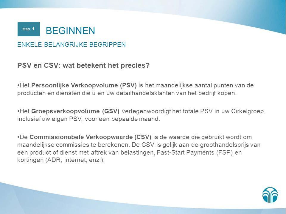 PSV en CSV: wat betekent het precies? Het Persoonlijke Verkoopvolume (PSV) is het maandelijkse aantal punten van de producten en diensten die u en uw
