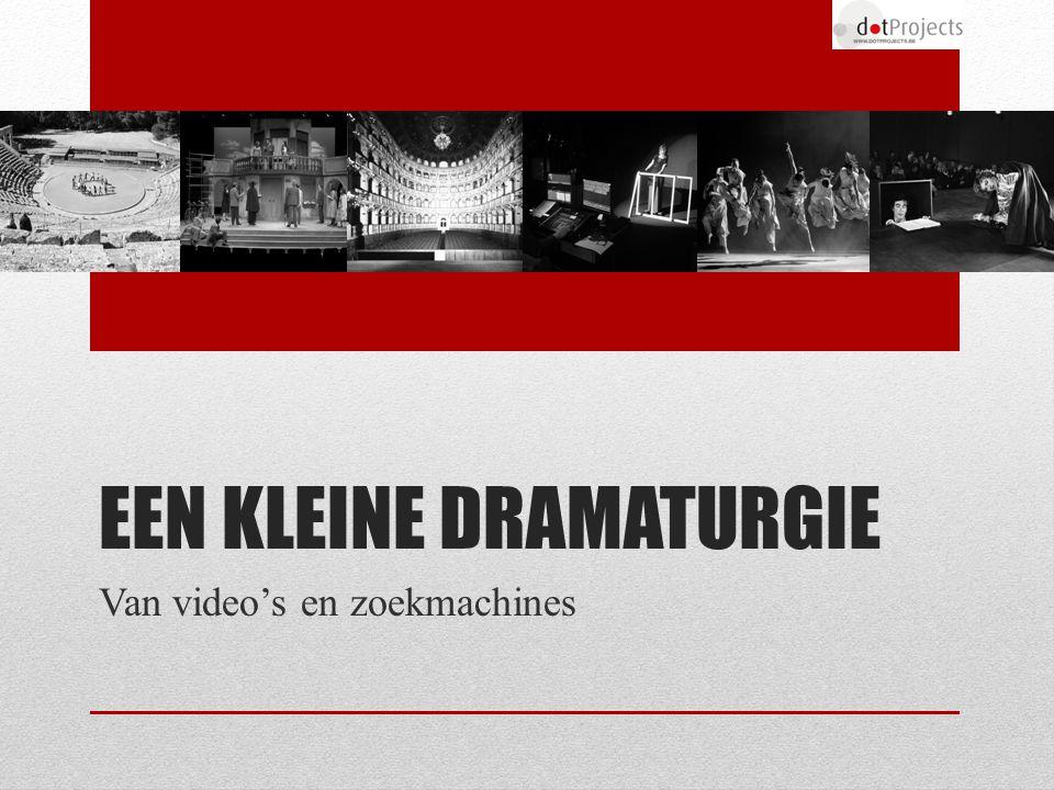 EEN KLEINE DRAMATURGIE Van video's en zoekmachines