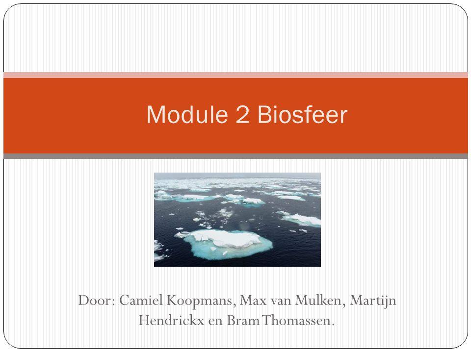 Door: Camiel Koopmans, Max van Mulken, Martijn Hendrickx en Bram Thomassen. Module 2 Biosfeer