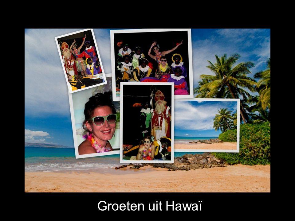De kinderen zongen nog een heleboel echte Hawaïaanse liedjes.
