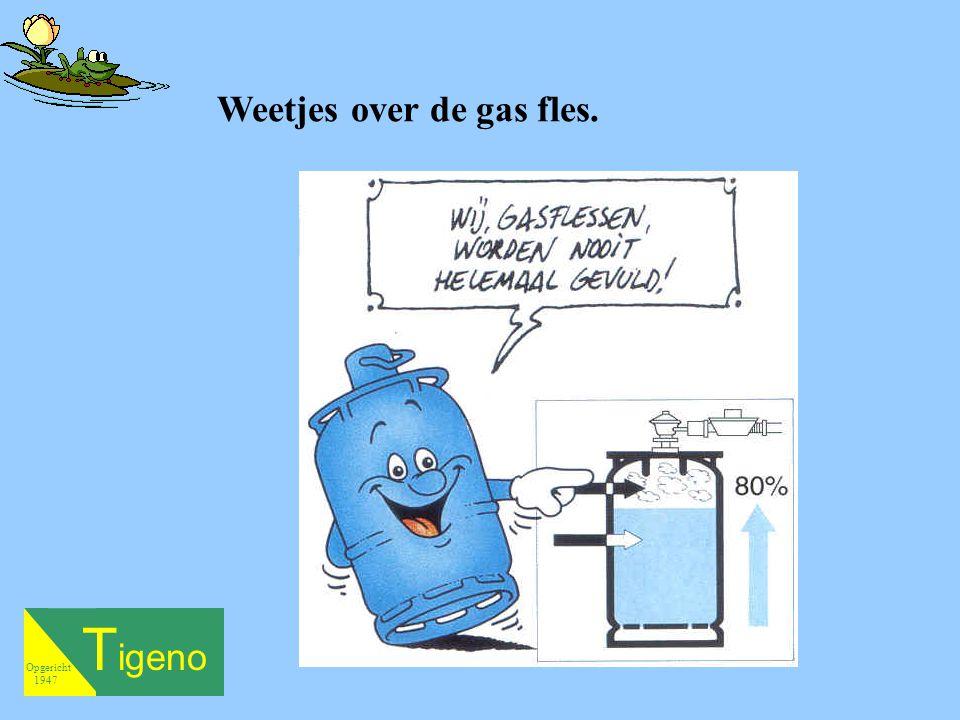 T igeno Opgericht 1947 Weetjes over de gas fles.