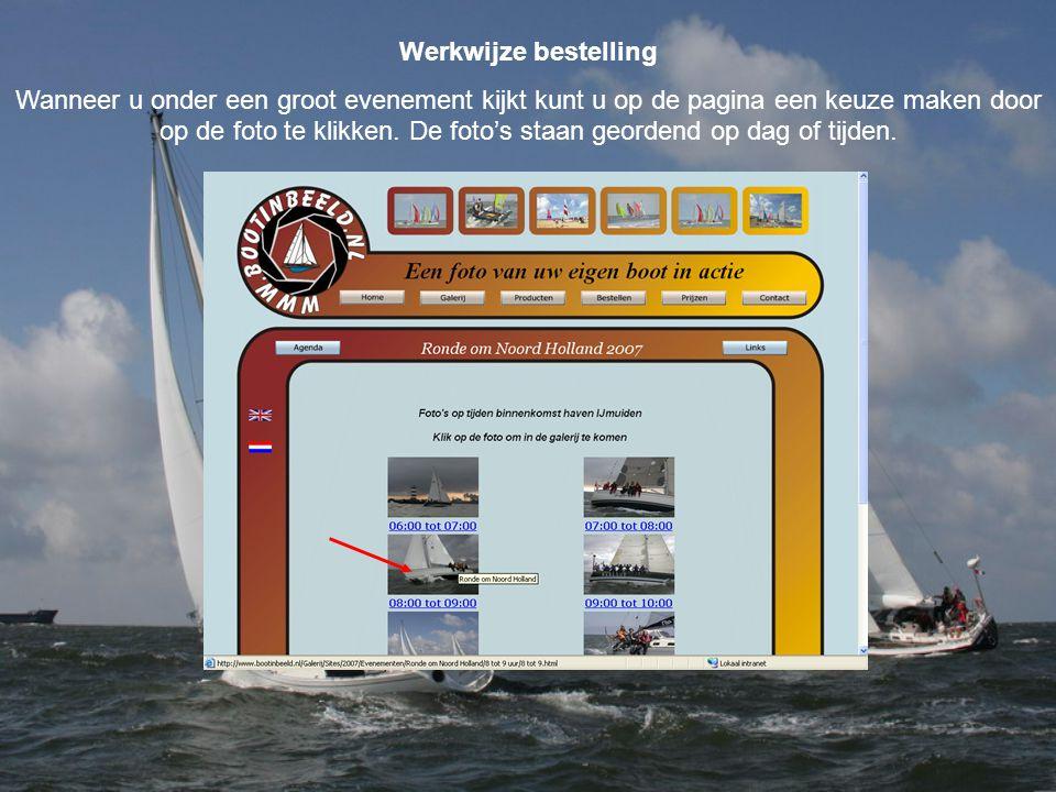 Werkwijze bestelling Wanneer u onder een groot evenement kijkt kunt u op de pagina een keuze maken door op de foto te klikken.