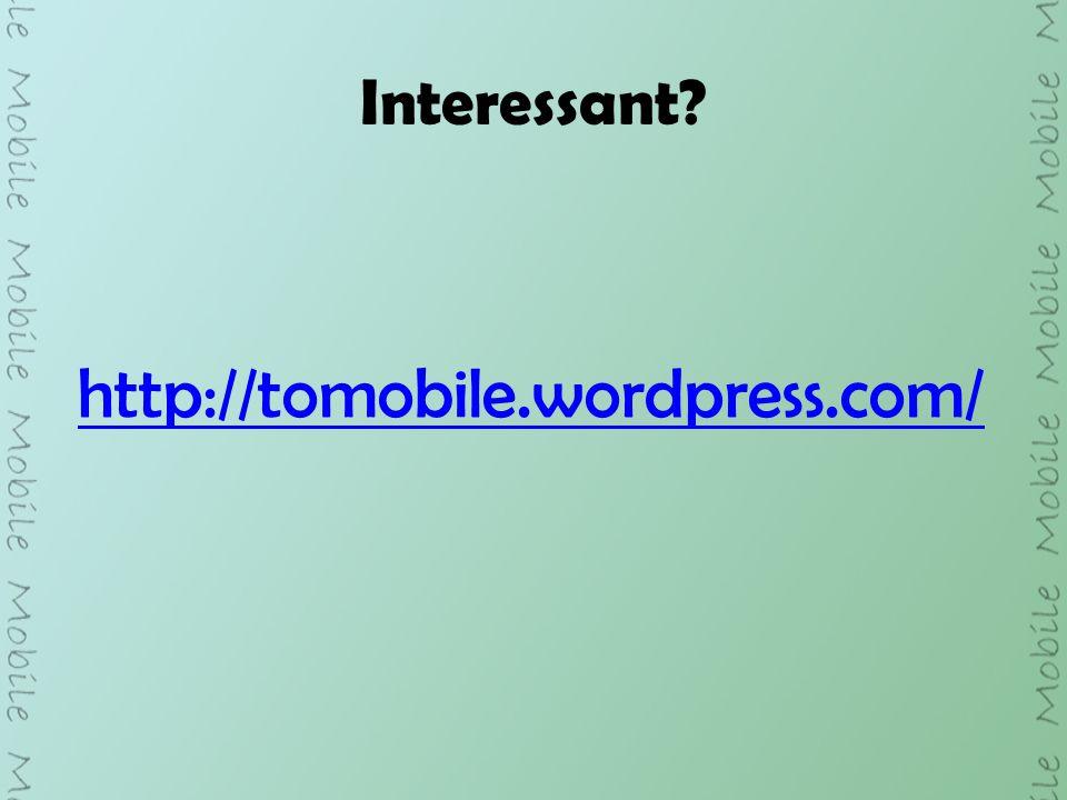 Interessant http://tomobile.wordpress.com/