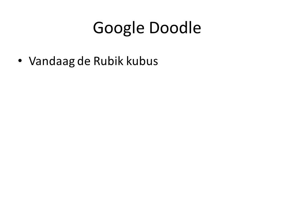 Google Doodle Vandaag de Rubik kubus