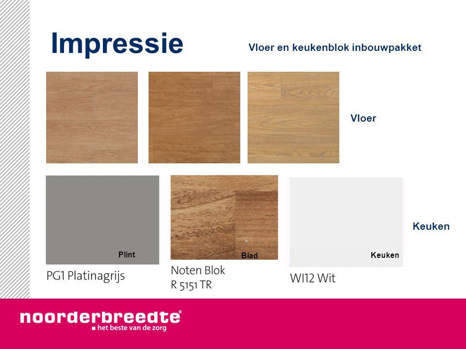 Impressie Vloer Keuken Plint Blad Keuken Vloer en keukenblok inbouwpakket