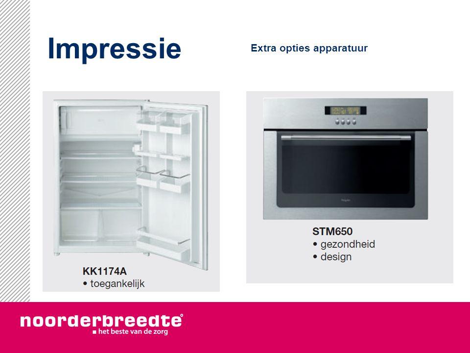 Impressie Extra opties apparatuur