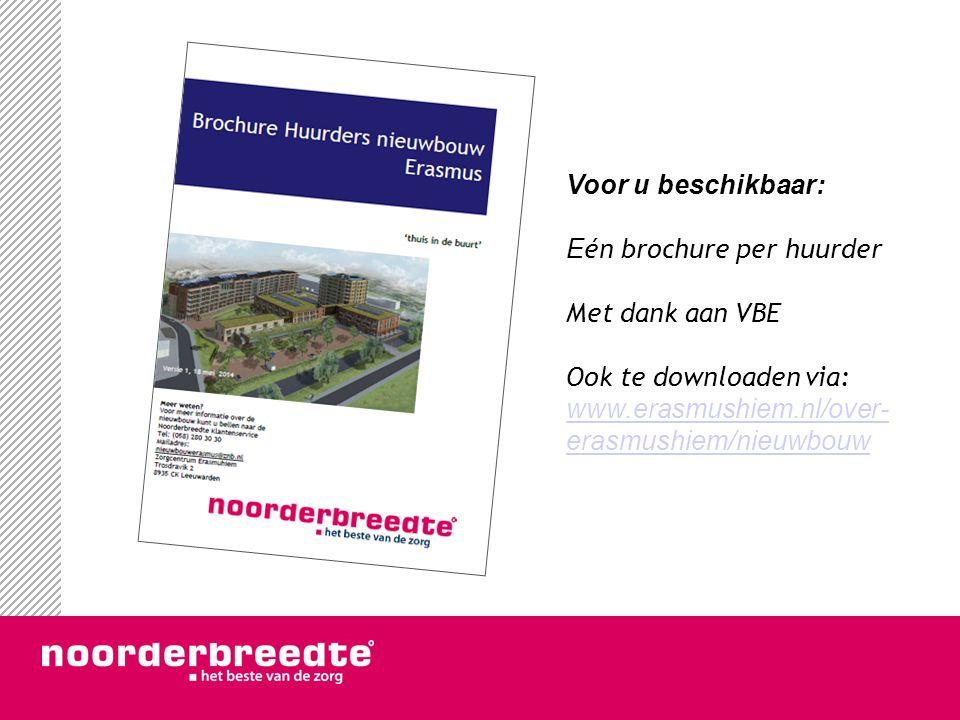 Voor u beschikbaar: E én brochure per huurder Met dank aan VBE Ook te downloaden via: www.erasmushiem.nl/over- erasmushiem/nieuwbouw