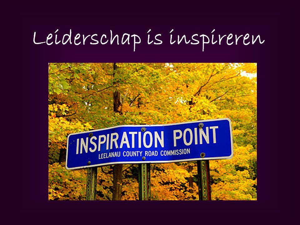 Leiderschap is inspireren