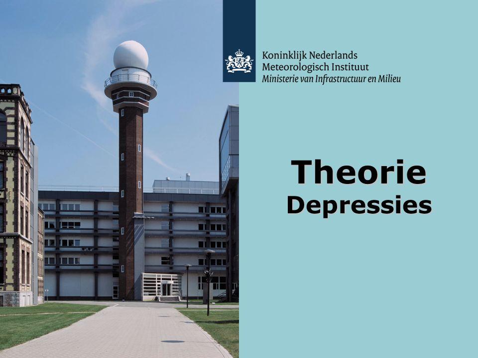 KNMI - Lesmodule Weer - maart 2012 Theorie Depressies 12 Passage van een frontaal systeem Frontaal systeem