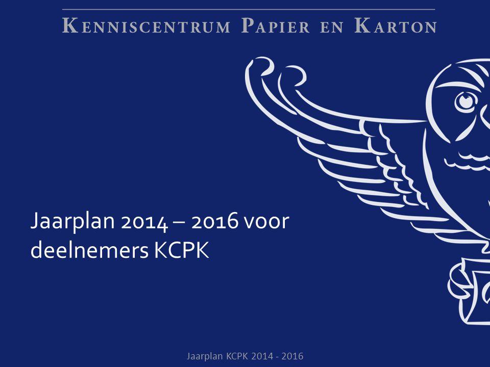 Jaarplan KCPK 2014 - 2016 Jaarplan 2014 – 2016 voor deelnemers KCPK