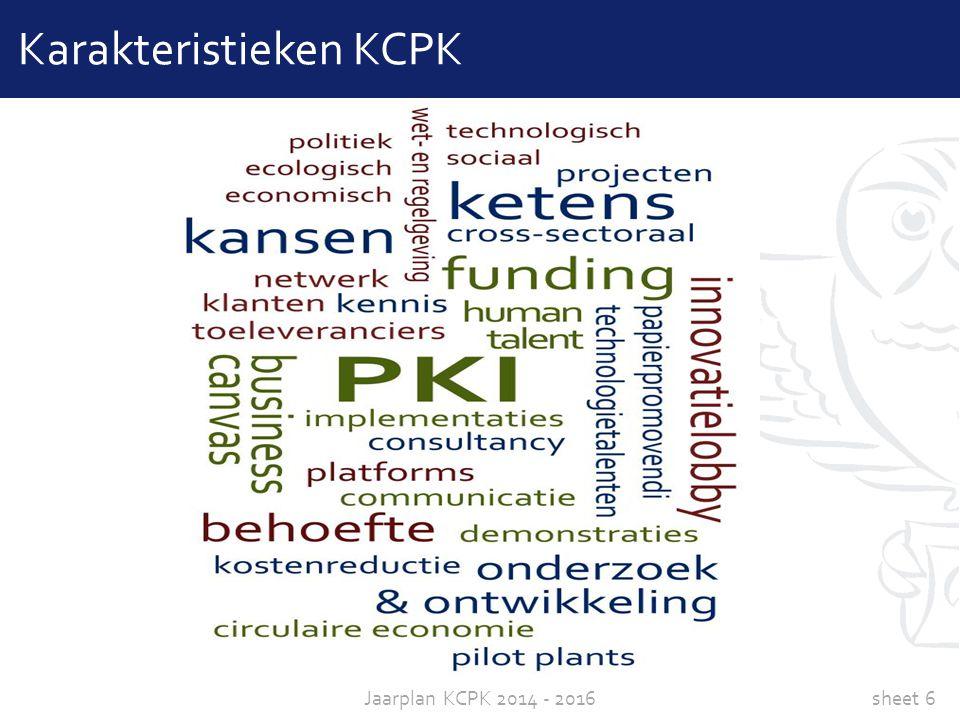 sheet 6Jaarplan KCPK 2014 - 2016 Karakteristieken KCPK