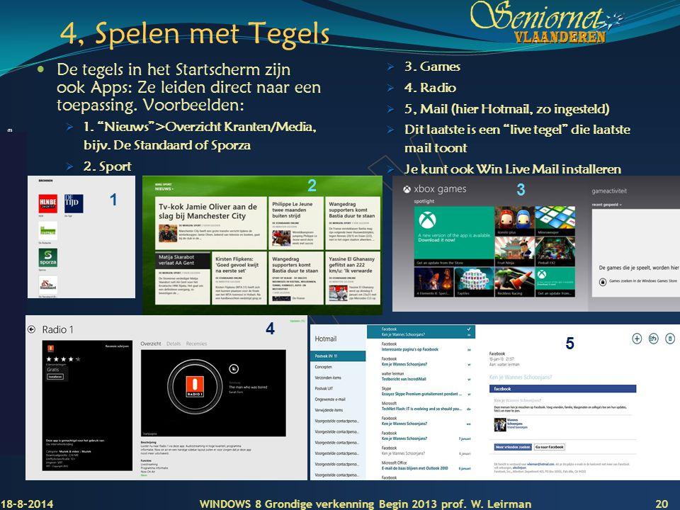 Deze presentatie mag noch geheel, noch gedeeltelijk worden gebruikt of gekopieerd zonder de schriftelijke toestemming van Seniornet Vlaanderen VZW 4,
