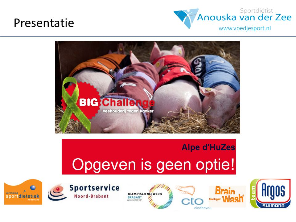 Presentatie www.voedjesport.nl