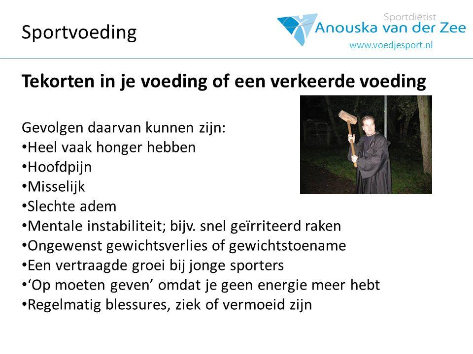 www.voedjesport.nl Tijdens Doe geen ongewone dingen Zenuwen.