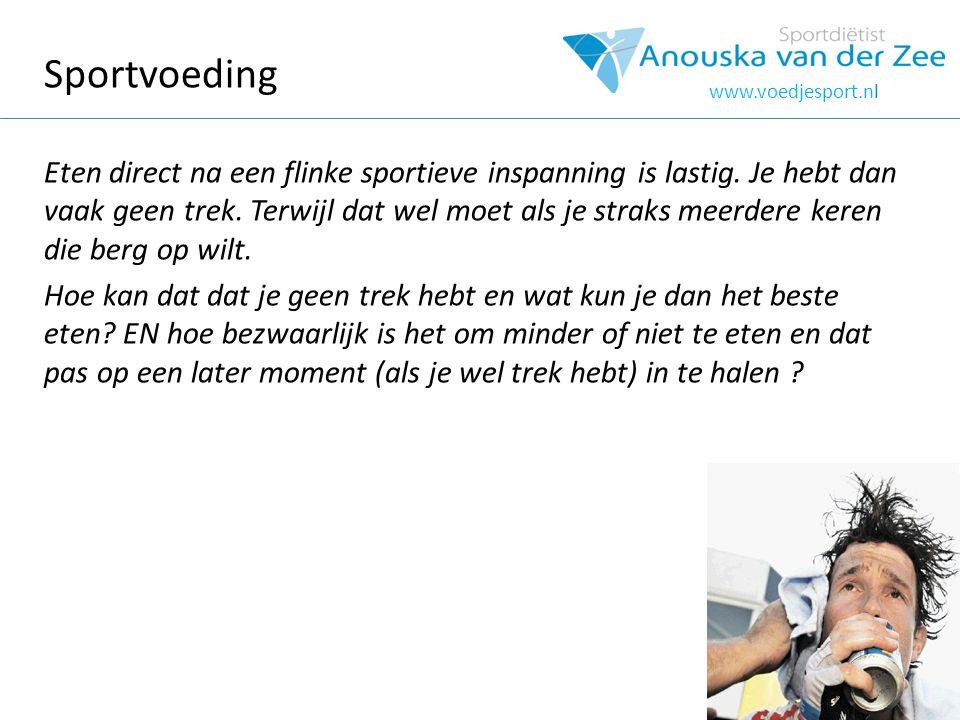 www.voedjesport.nl Ga voor de beste prestatie.Voed je sport.