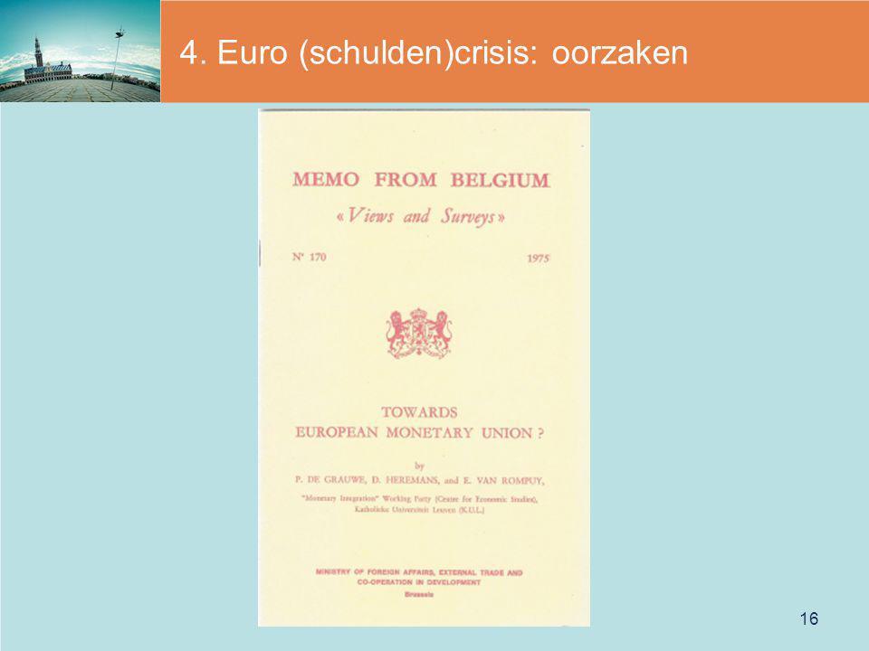 4. Euro (schulden)crisis: oorzaken 16