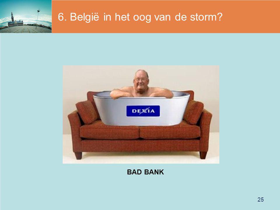6. België in het oog van de storm? 25 BAD BANK