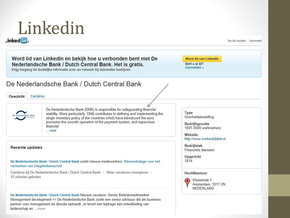 Voorbeelden monitoring DNB in de media (President DNB) Reputatie DNB Bitcoins, ontwikkeling digitale valuta Invloedrijke auteurs