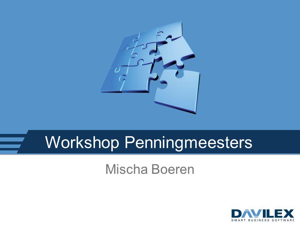Workshop Penningmeesters Mischa Boeren