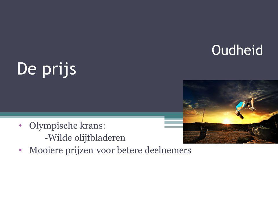 Oudheid De prijs Olympische krans: -Wilde olijfbladeren Mooiere prijzen voor betere deelnemers