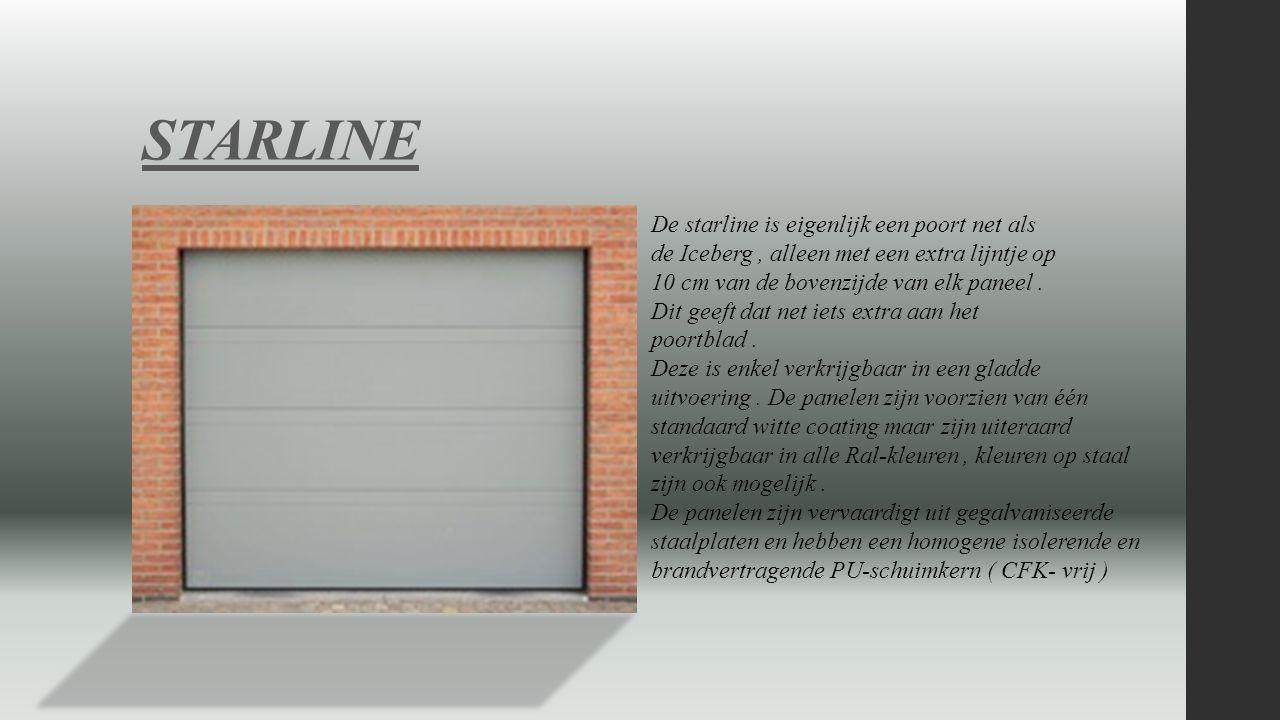 MICROLINE De Microline is voorzien van panelen met 16 mm micro geprofileerde panelen.