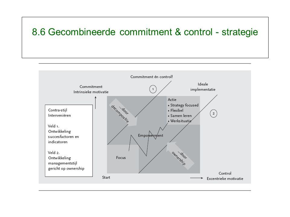 8.6 Gecombineerde commitment & control - strategie