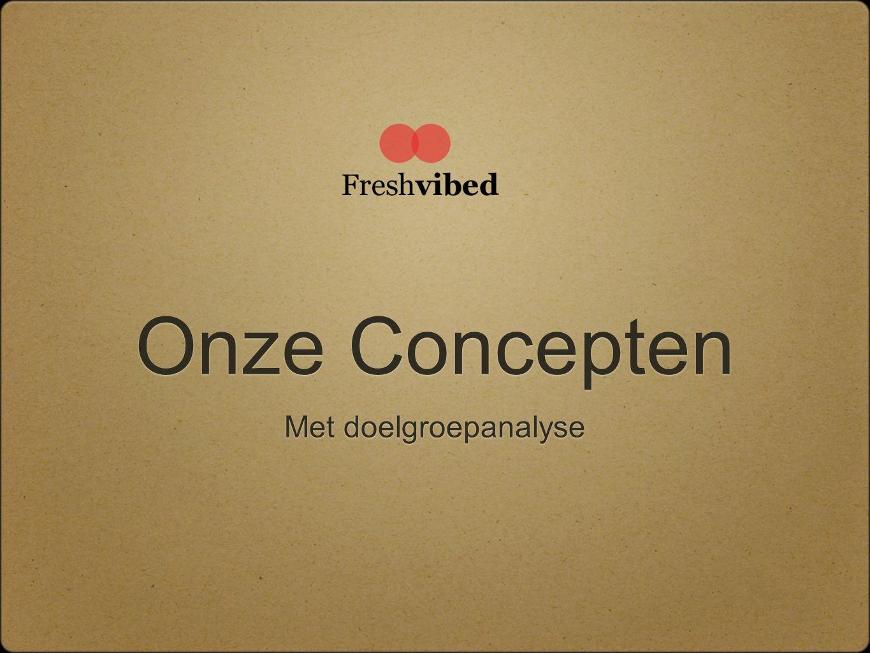 Onze Concepten Met doelgroepanalyse
